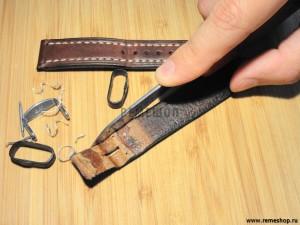 Срезание лака с боковой поверхности