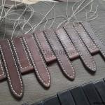 Заготовки кожаных ремней Р-3 по окончании прошивки