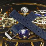 Синий часовой ремешок Stailer Flex Perfo