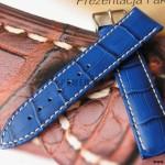 Голубой ремешок HIRSCH Modena