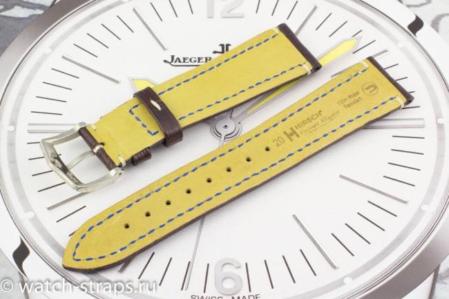 Изнанка ремня HIRSCH Viscount Alligator