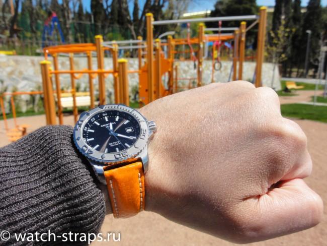 Ремешок HIRSCH Carbon на руке
