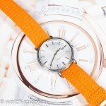 Оранжевый ремешок из перлона на часах